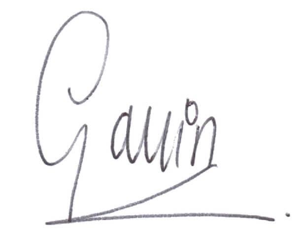 Gavin signature
